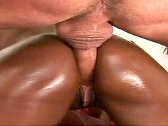 Great sex with the gorgeous and oiled up Milan Sterling