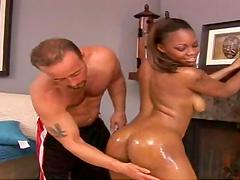 Hot sex with the sexy ebony babe Amanda