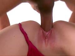 Mandy Haze tastes a big cock before riding it