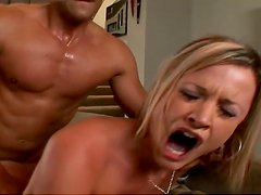 Hardcore fuck with hot blonde bitch