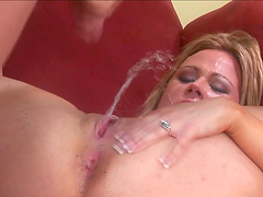 Slutty bitch gets her slippery wet pussy stuffed