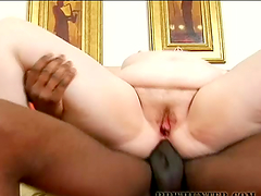 BBW blonde's fucked silly by a black monster cock