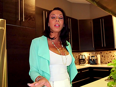 Horny mom's fucked silly on the kitchen counter