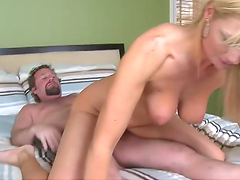 Dude nails a busty fucking milf right in her gash!