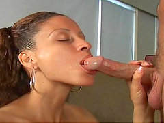 Skanky bitch gets her tight pussy fucked
