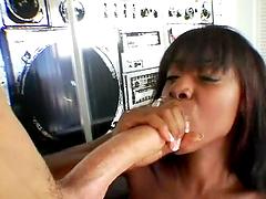 Slutty ebony bitch gets fucking nailed hard!