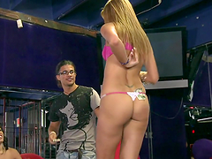 Date with hot blonde ends with hot blowjob and hardcore sex