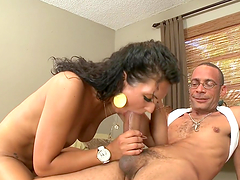 Horny and sexy brunette wants a big cock to suck and fuck
