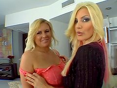 Dude nails two stunning blonde bitches