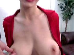 Hot slut sucks on a hard cock and gets nailed