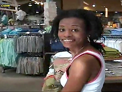 Ebony skank gets her gash stuffed with dick