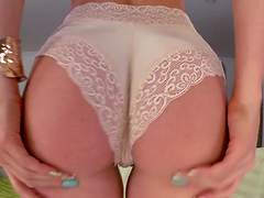 Beautiful blonde's fucked by a large cock