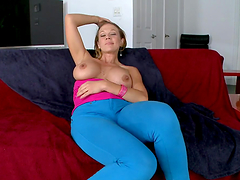 Kinky blonde shows off her great ass before being fucked silly