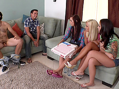 Group of sluts having sex with some dudes