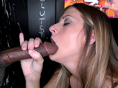 Cock-hungry bitch at the gloryhole