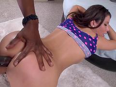 Interracial anal for a sexy bootylicious babe