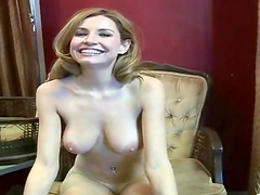 Hot bitch fondles her fuckin' pussy