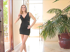 Brina gives you a hard on as she takes off her dress