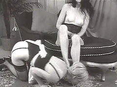 Hot babe's toyed by her mistress in femdom clip