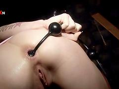 Bondage fun with the hot submissive blonde Sofia Valentine