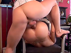 Slutty Michaele is masturbated and fucked silly by a guy