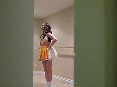 Bitch in cheerleader outfit gets her pussy fucked