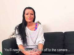Samantha Johnson masturbates before being fucked by a big cock