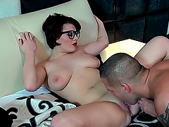 Amy Wild plays with her wet pussy before she's fucked by a guy