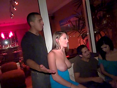 Group of sexy whores gettin' nailed hard!