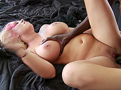 Great interracial fucking for the busty blonde milf Tara Star