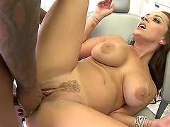 Bitch gets fucked hard by black cock