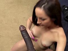 Interracial anal sex for the slutty brunette Marley Blaze
