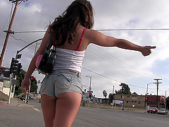Interracial threesome for the hot brunette Olivia Wilder
