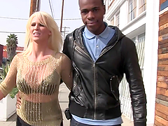 A black monster cock for the busty blonde milf Kaylee Brookshire