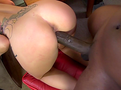 Lexi Kartel is fucked hard by a big black cock