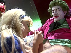 Kinky ladies have a threesome with the joker