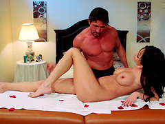 Rough sex with the busty brunette Alektra Blue
