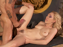 Rough anal sex with the slutty blonde Lily Labeau