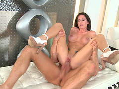 Hot-ass brunette gets her gash fucked hard