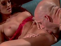 Rough sex with the slutty redhead Monica Mayhem