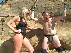 Shayne Ryder is drilled by this guy after torturing her
