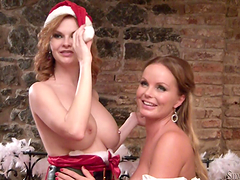 Horny babes have a hot lesbian scene