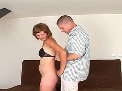 Slutty bitch gets her hairy gash fucked hard