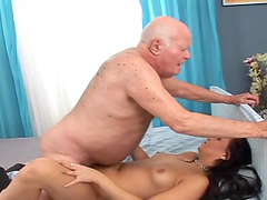 Eliss Fire is fucked silly by a horny old man