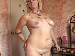 Horny blonde's fucked silly by a guy in hardcore scene