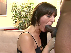 Interracial sex with a monster cock for a sexy brunette