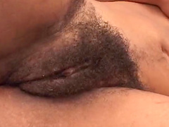 Desire has her bush drilled by a big black cock