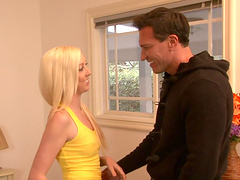 Callie Carter is fucked by a guy a with a big cock