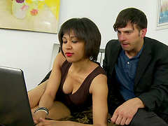 Rough sex with the horny babe Mailan Koi