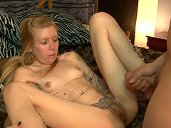 Amazing sex with the horny blonde Tabitha James